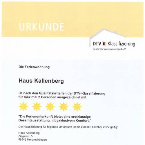 DTV-Klassifizierung Ferienwohnung
